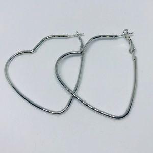 Jewelry - Heart Hoop statement style street wear earrings